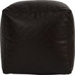 more details on HOME Quilted PVC Beanbag Cube - Chocolate.