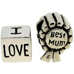 more details on Link Up S.Silver Best Mum and Love Mum Charms - Set of 2.