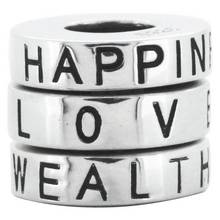 Link Up S.Silver Love, Wealth and Happiness Charms - 3.