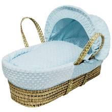 Kinder Valley Blue Dimple Moses Basket