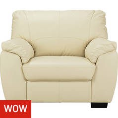 Argos Home Milano Leather Armchair - Ivory