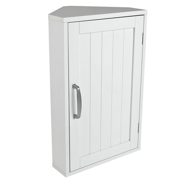 Buy Argos Home Tongue Groove Corner Cabinet White Bathroom Wall Cabinets Argos