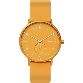 Skagen Aaren Kulor Yellow Silicone Strap Watch