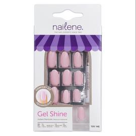 Nailene Gel Shine Stiletto Nails - Pale Pink 28
