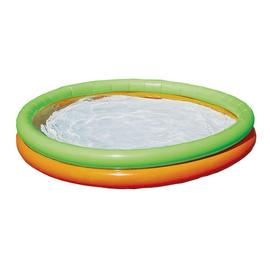 Chad Valley 4.2ft 2 Ring Round Kids Paddling Pool - 296L