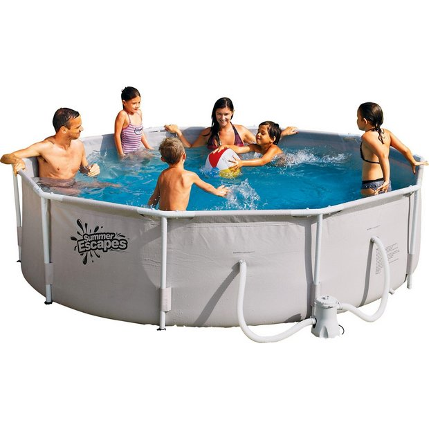 buy round frame pool 10ft white at your