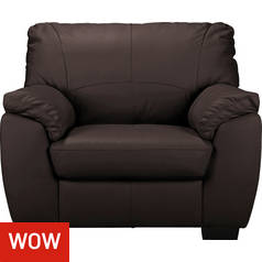 Argos Home Milano Leather Armchair - Chocolate