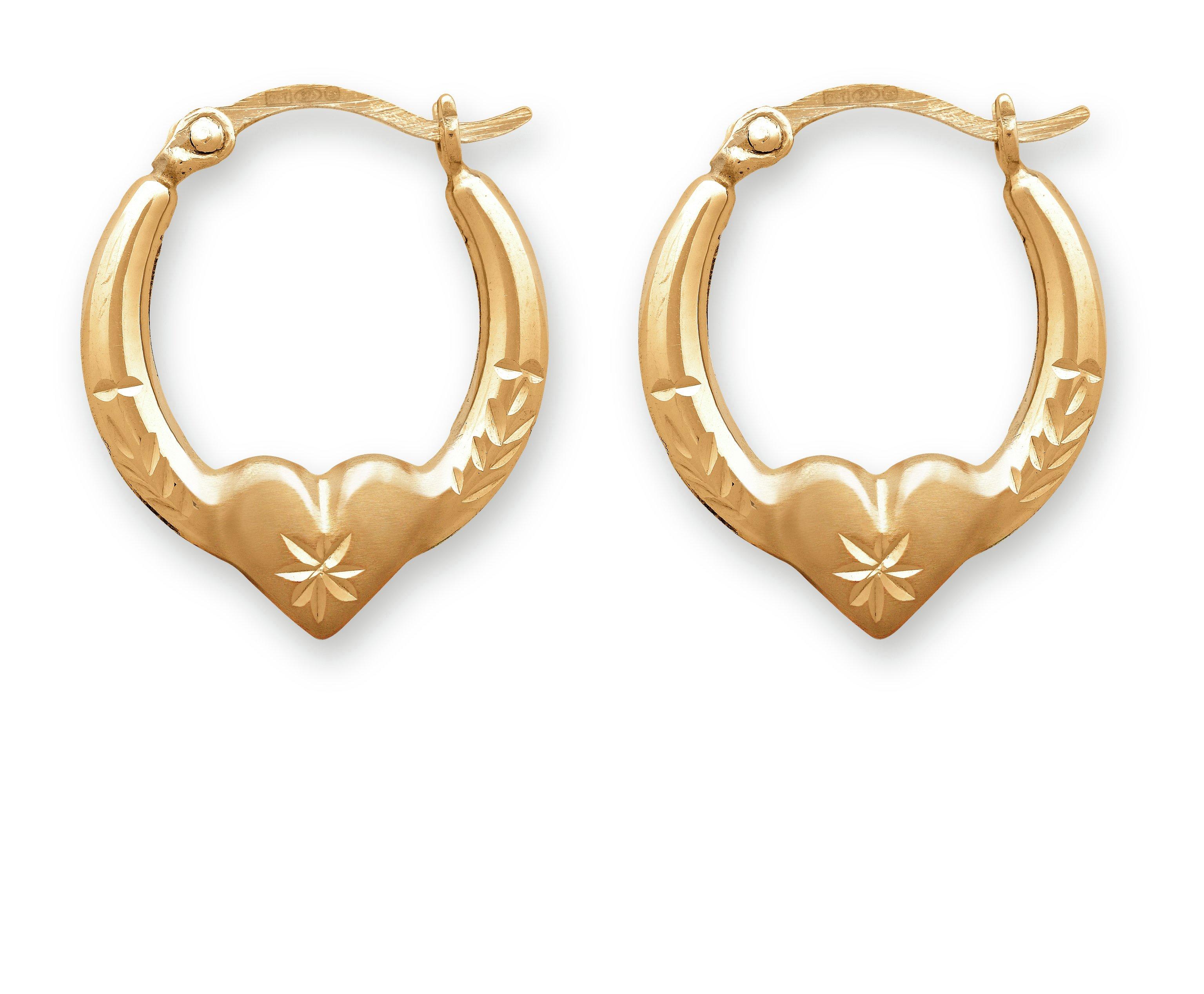 Gold creole earrings argos