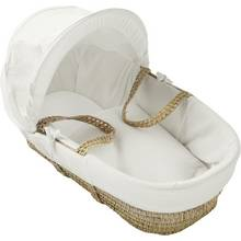 Kinder Valley White Cotton Waffle Moses Basket
