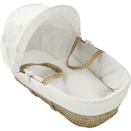Kinder Valley White Cotton Waffle Moses Basket