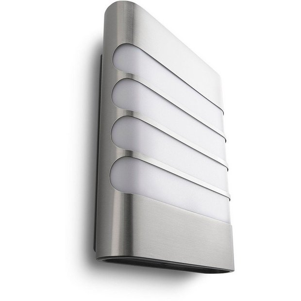 Buy Philips myGarden Raccoon LED Wall Light - Inox at Argos.co.uk - Your Online Shop for Wall ...