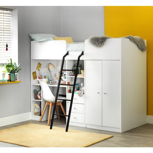 ec2d20a1a837 Buy Argos Home Ohio White Single High Sleeper Bed Frame | Kids ...