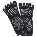 more details on Gaiam Medium to Large All Grip Yoga Socks - White Dots