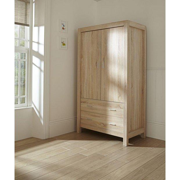 buy tutti bambini milan oak wardrobe at your. Black Bedroom Furniture Sets. Home Design Ideas