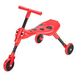 Scuttlebug Ladybird Ride On - Red and Black