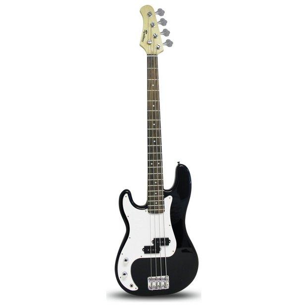 buy rockburn left hand bass guitar black at your online shop. Black Bedroom Furniture Sets. Home Design Ideas