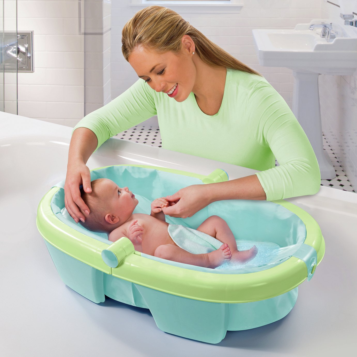 Buy Summer Infant Newborn Toddler Fold Away Baby Bath