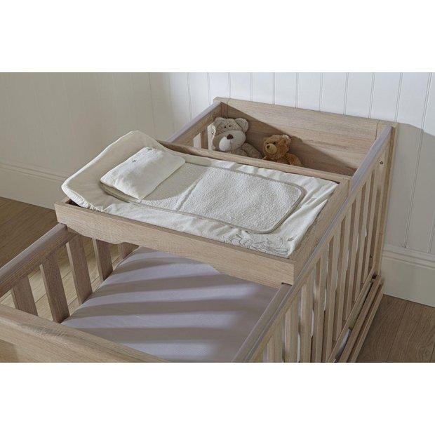 buy tutti bambini milan oak cot top changer at. Black Bedroom Furniture Sets. Home Design Ideas