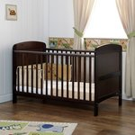 more details on Obaby Grace Cot Bed with Free Foam Mattress - Walnut.