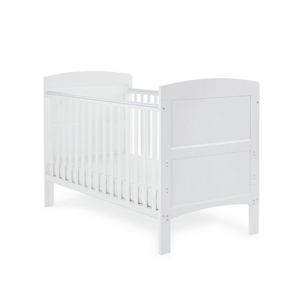 buy obaby grace cot bed white at your. Black Bedroom Furniture Sets. Home Design Ideas