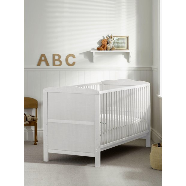 buy saplings kirsty cot bed white at your. Black Bedroom Furniture Sets. Home Design Ideas