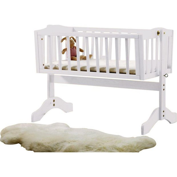 buy saplings bethany swinging crib white at. Black Bedroom Furniture Sets. Home Design Ideas