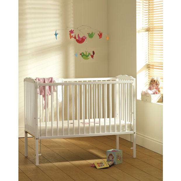 buy saplings jessica cot white at your. Black Bedroom Furniture Sets. Home Design Ideas