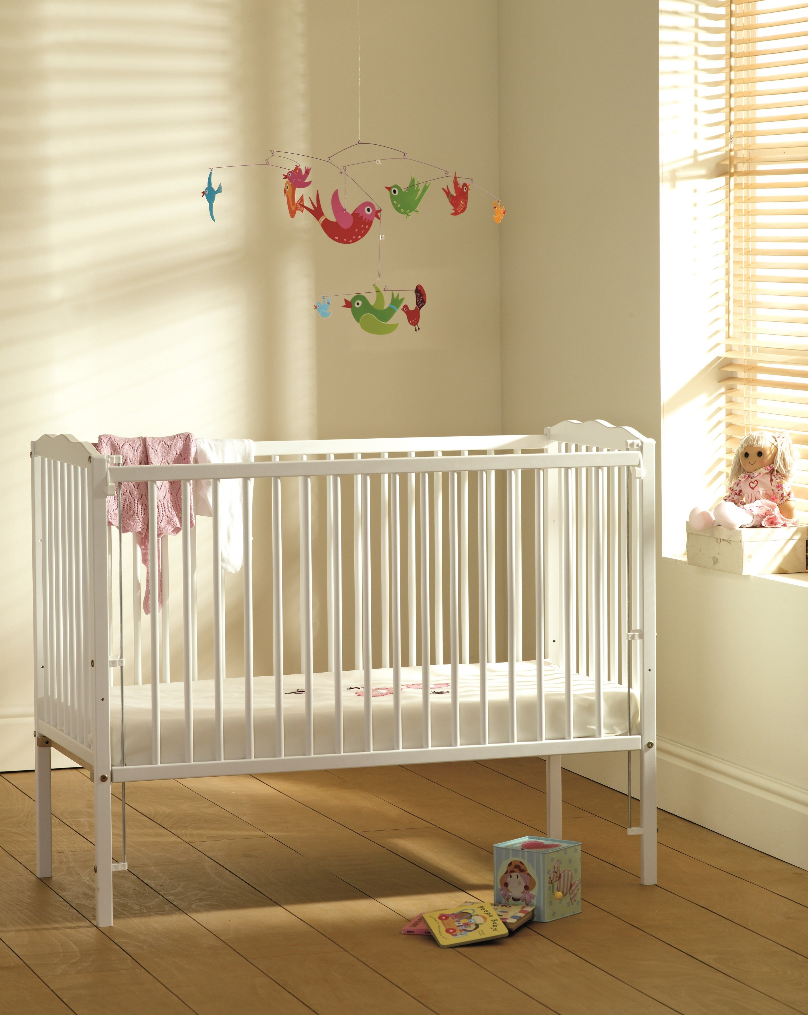 buy saplings jessica cot - white at argos co uk