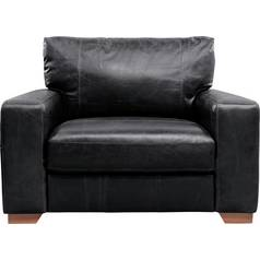 Argos Home Eton Leather Cuddle Chair - Black