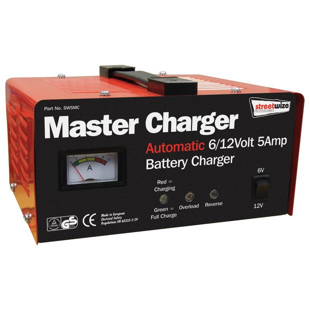 buy streetwize 5amp 12v metal case battery charger at. Black Bedroom Furniture Sets. Home Design Ideas
