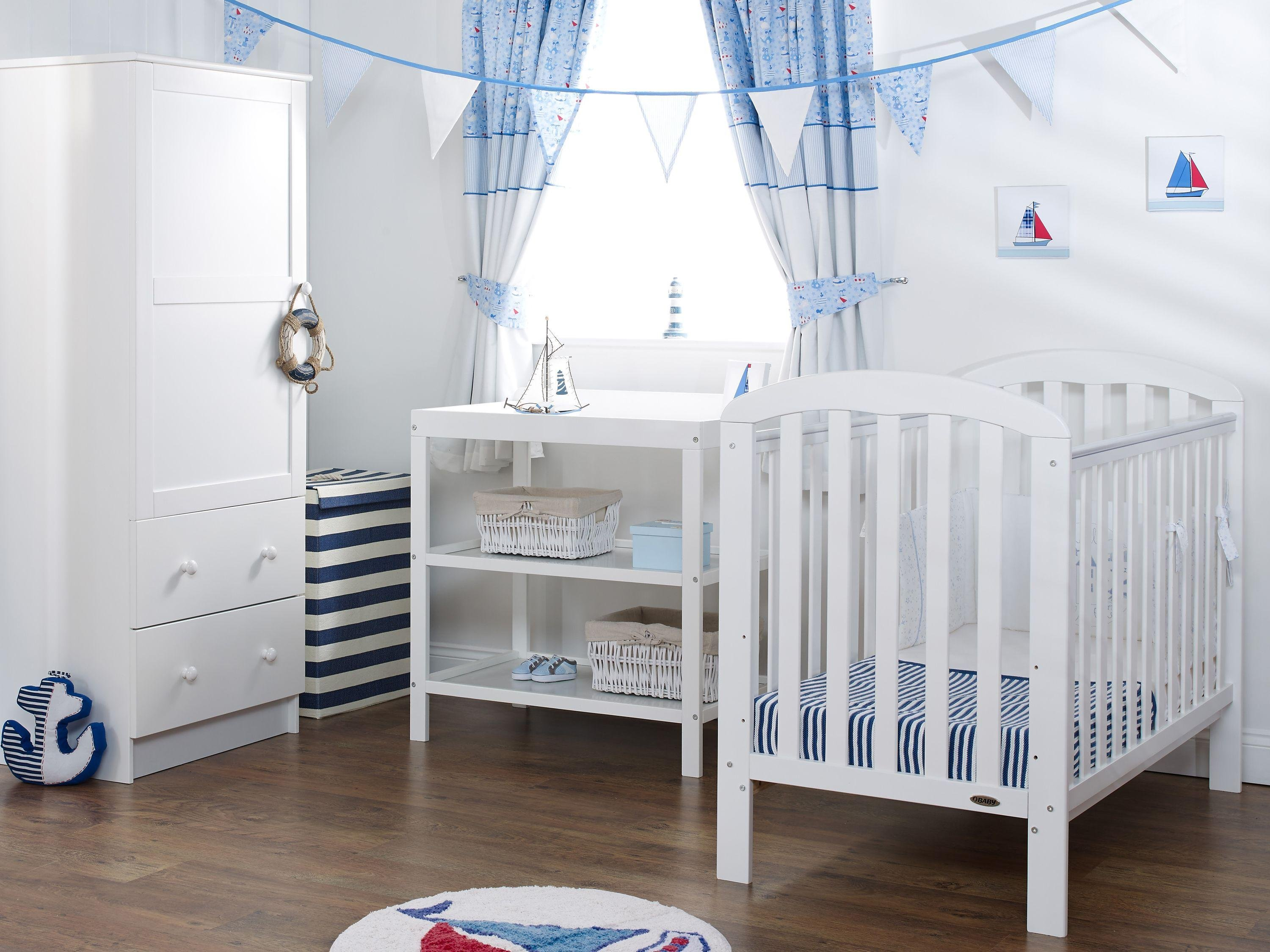 Obaby Lily 3 Piece Nursery Furniture Set   White.