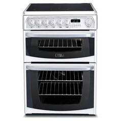 Hotpoint CH60EKWS 60cm Double Oven Electric Cooker - White