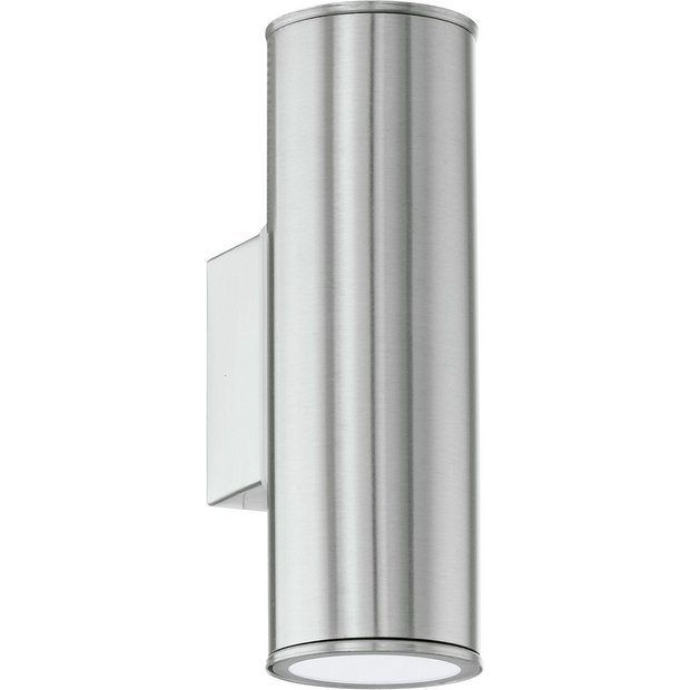Buy Eglo Riga 200mm LED Outdoor Wall Lighting - Stainless Steel at Argos.co.uk - Your Online ...