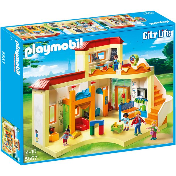 Buy playmobil 5567 sunshine preschool at for Transportables haus