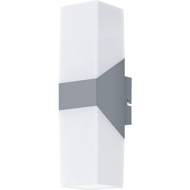 Outside Wall Lights Argos : Buy Eglo Roffia Double LED Outdoor Wall Light - Alum & White at Argos.co.uk - Your Online Shop ...
