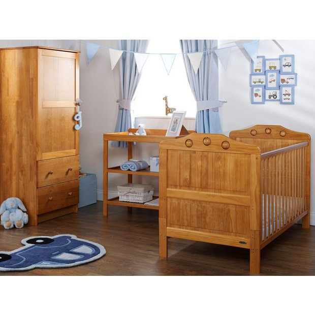 Buy Obaby Lisa 3 Piece Nursery Furniture Set Country Pine At Your Online Shop