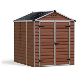 Palram Skylight Plastic 6 x 8ft Garden Shed - Amber Best Price, Cheapest Prices