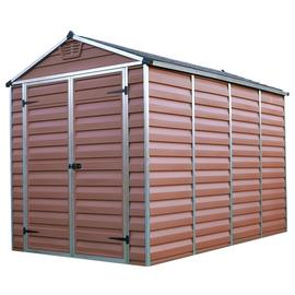 Palram Skylight Plastic 6 x 10ft Garden Shed - Amber