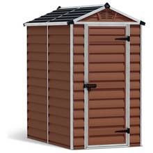 Palram Skylight Plastic Amber Garden Shed - 4 x 6ft