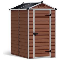 Palram Skylight Plastic Amber Garden Shed - 4 x 6ft Best Price, Cheapest Prices