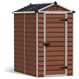 Palram Skylight Plastic 4 x 6ft Garden Shed - Amber