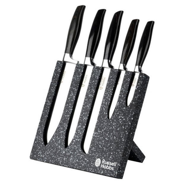 Buy russell hobbs stainless steel piece knife block at