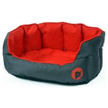 Petface Oxford Small Dog Bed - Red