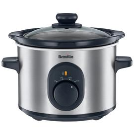 Breville 1.5L Compact Slow Cooker - Stainless Steel