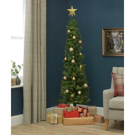 Argos Home 6ft Pencil Christmas Tree - Green