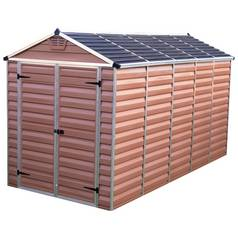 Palram Skylight Plastic Amber Garden Shed - 6 x 12ft Best Price, Cheapest Prices
