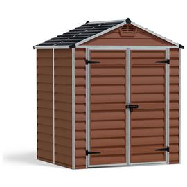 Palram Skylight Plastic Amber Garden Shed - 6 x 5ft