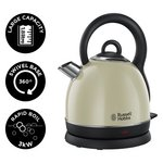 more details on Russell Hobbs Westminster Cream Cordless Dome Kettle 19193.