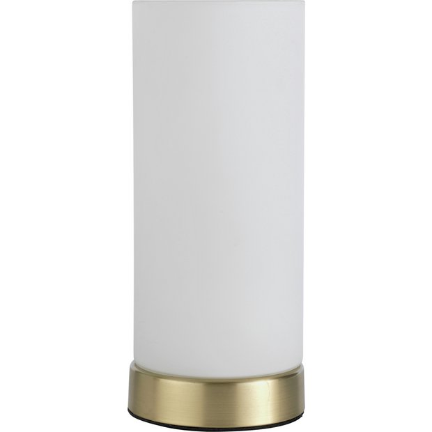 Buy collection opal glass touch table lamp brushed gold