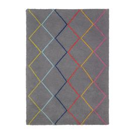 Argos Home Brights Berber Supersoft Rug - 120x170cm - Grey